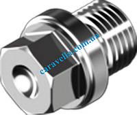 DIN 910, пробки резьбовые из нержавеющей стали с буртиком и шестигранником под ключ