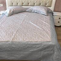 Покрывало c наволочками  Bluedream grey 230х250 Серый с розовым