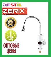 Проточный Водонагреватель Zerix ELW-06 EF 3 kW Индикатор Температуры, Рефлекторный Излив