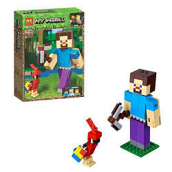 "Конструктор (аналог Lego Майнкрафт) ""My World Minecraft: Стив, 159 дет"