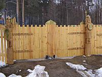 """Ворота для коттеджа из дерева """"Эксклюзив"""" из термодерева"""