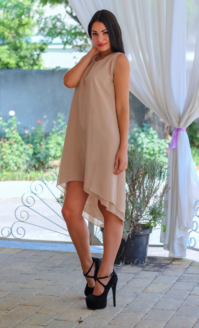 Шифоновое платье миди  оптом Arut оптовый интернет магазин женской одежды арут