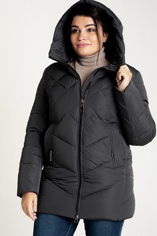 Женская теплая куртка Мелани серый (48-58)