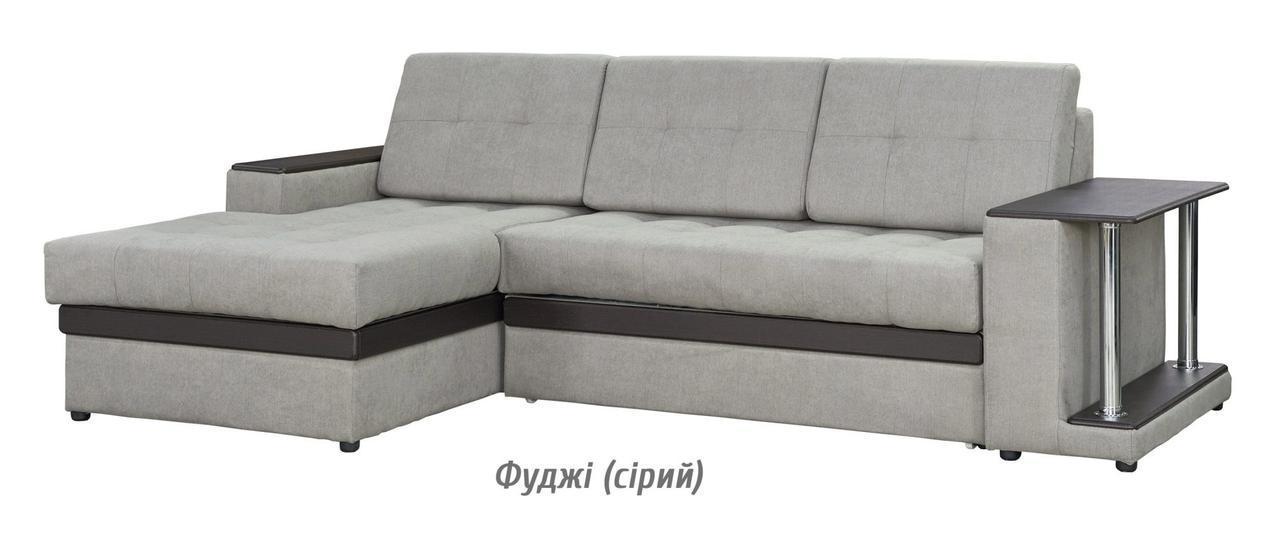 Диван раскладной угловой Орфей фуджи (серый) Мебель-сервис