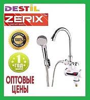 Проточный Водонагреватель Zerix ELW-08 E 3 kW Индикатор Температуры, Лейка