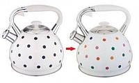 Чайник хамелеон горошек Edenberg EB-1908 3.0 л чайник со свистком
