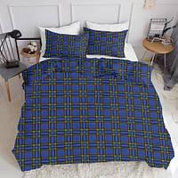 Комплект полуторного постельного белья SCOTTISH BLUE WHITE (хлопок, ранфорс), фото 1