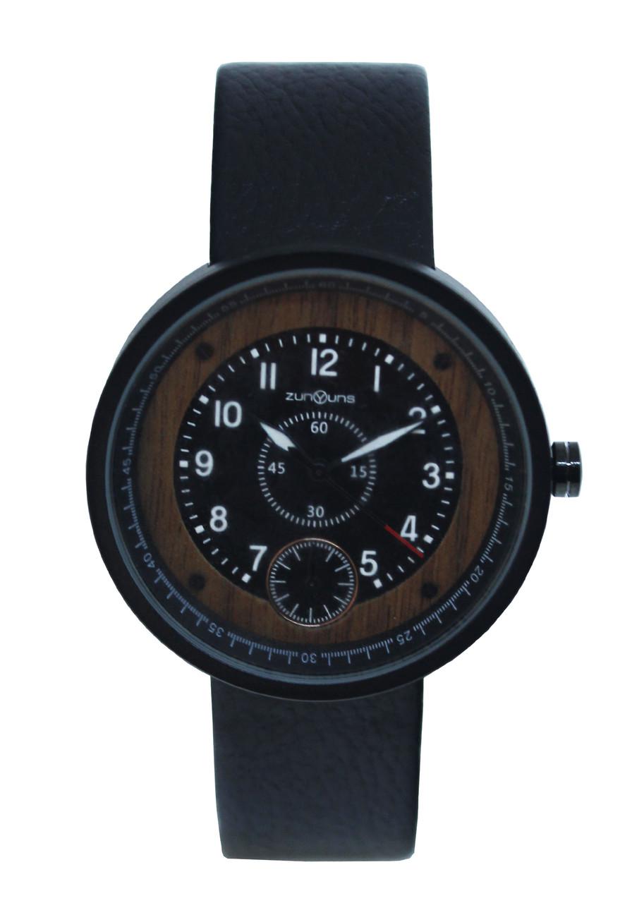 Часы мужские наручные деревянный циферблат