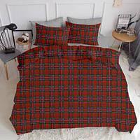 Комплект полуторного постельного белья SCOTTISH RED GREY (хлопок, ранфорс), фото 1