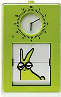 """Часы настенные NeXtime Часы настенные """"Flip"""", салатовые SKU_5100"""