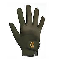 Высоко тактильные перчатки MacWet Short Cuff Climatec Gloves, olive. Великобритания, оригинал