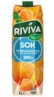 Детский сок Riviva 1л апельсиновый с кусочками апельсина (Польша)