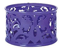 Подставка для скрепок , металл, круглая, фиолетовая, Buromax Barocco