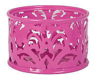 Подставка для скрепок , металл, круглая, розовая, Buromax Barocco