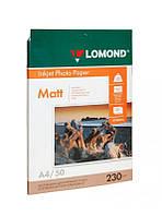 Фотобумага А4, матовая, 230гр., 50 л., Lomond