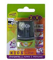 Точилка детская, 2 отверстия, с конт., Zibi Машина Mini, пласт., в ассортименте