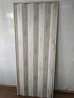 Дверь гармошка глухая дуб беленый 907 81*203*0,6 см раздвижная  , фото 1