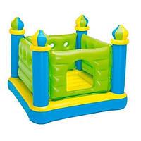 Надувной центр-батут INTEX 48257Jump-O-Lene Castle Bouncer квадратный игровой детский центр 132*132*107 см