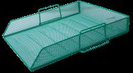 Лоток горизонтальный Buromax металлический зелёный