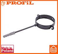 Водосточная пластиковая система PROFIL 130/100 (ПРОФИЛ ВОДОСТОК). Держатель трубы метал L220, графитовый