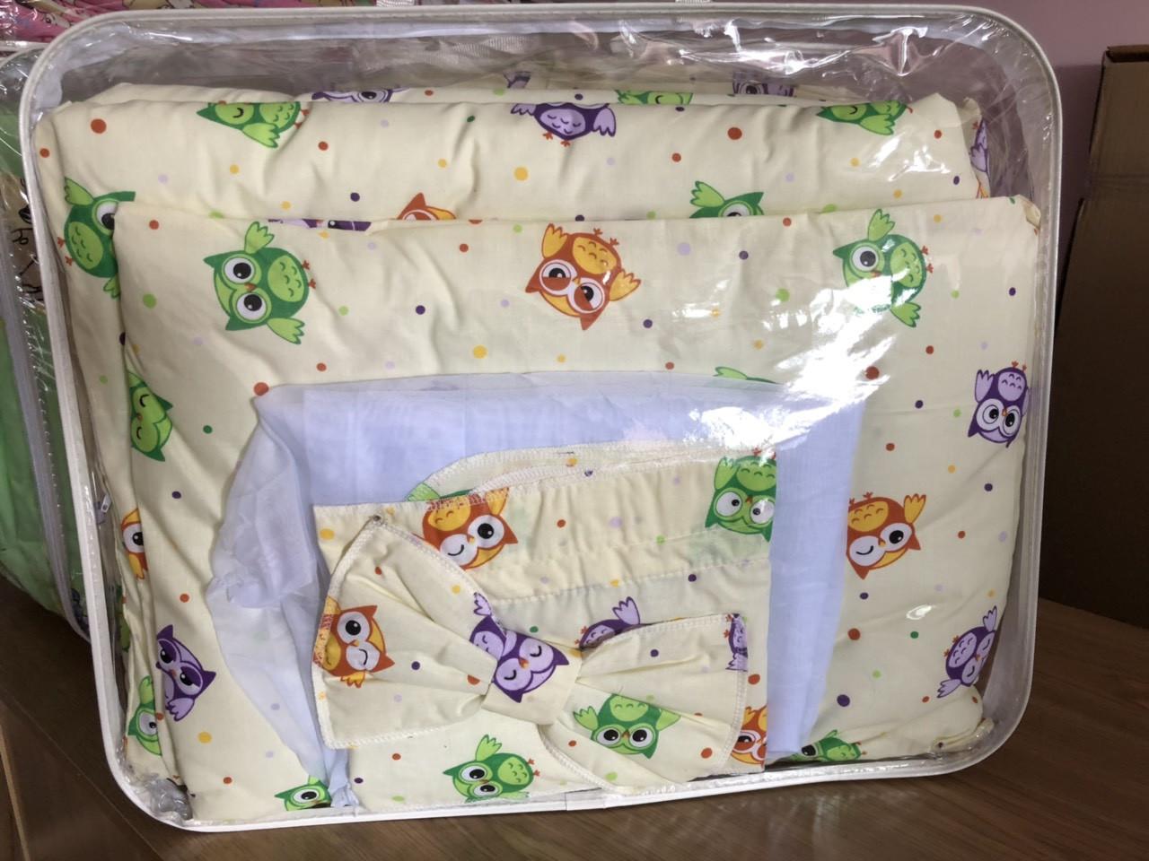Детская постель Кроха Совы 7элементов (цвета в ассортименте)