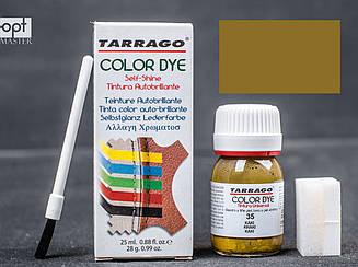 Краска для кожи и текстиля цв.хаки Tarrago Color Dye, 25 мл,TDC01(35)