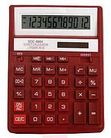 Калькулятор наст. Citizen SDC-888 XRD, 12 разр., фиксированный угловой, 203х158х31, красный