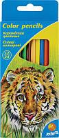 Карандаши цветные Kite , 2 сторонние, 12 цв., шестигр.