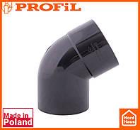 Водосточная пластиковая система PROFIL 130/100(ПРОФИЛ ВОДОСТОК).Произвольное колено от 70º до170º, графитовый