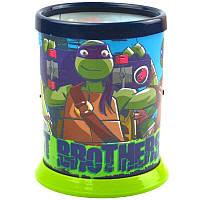 Стакан для ручек детский, пласт., 1 отд., круглый, цветной, разборной, 1 Вересня Ninja Turtles