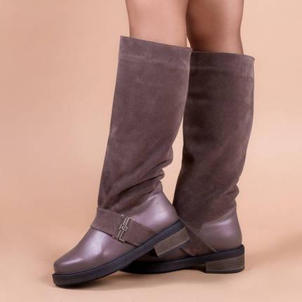 Модные  сапоги широкие в щиколотке на устойчивом каблуке размеры 36-40, фото 2