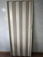 Дверь гармошка глухая кедр 911 81*203*0,6 см раздвижная  , фото 1