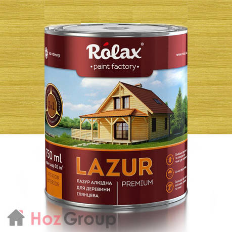 Лазурь для дерева Ролакс 112 олива 2,5л, фото 2