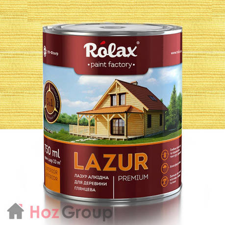 Лазурь для дерева Ролакс 109 бесцветная 2,5л, фото 2