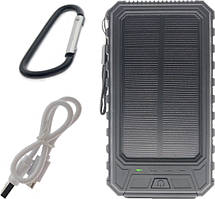 Зарядное устройство smart Портативный аккумулятор с солнечной батареей 10000 mAh Solar Battery SB1 Black SKU_508351