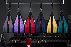 Петли Береша атлетические подвесные B1, карабин малый черный