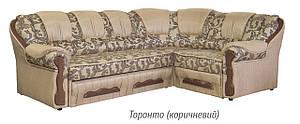 Диван розкладний кутовий Фаворит торонто (коричневий) Меблі-сервіс