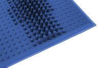 Коврик массажный резиновый от плоскостопия (26*26 см)   профилактический синий