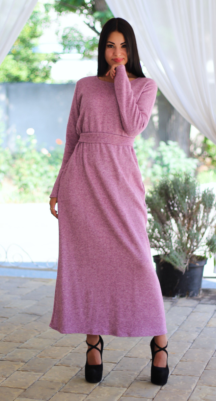 Розовое ангоровое платье  оптом Arut оптовый интернет магазин женской одежды арут