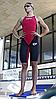 Женский стартовый гидрокостюм Arena Powerskin Carbon Flex (Dark Grey/Red) - Фото