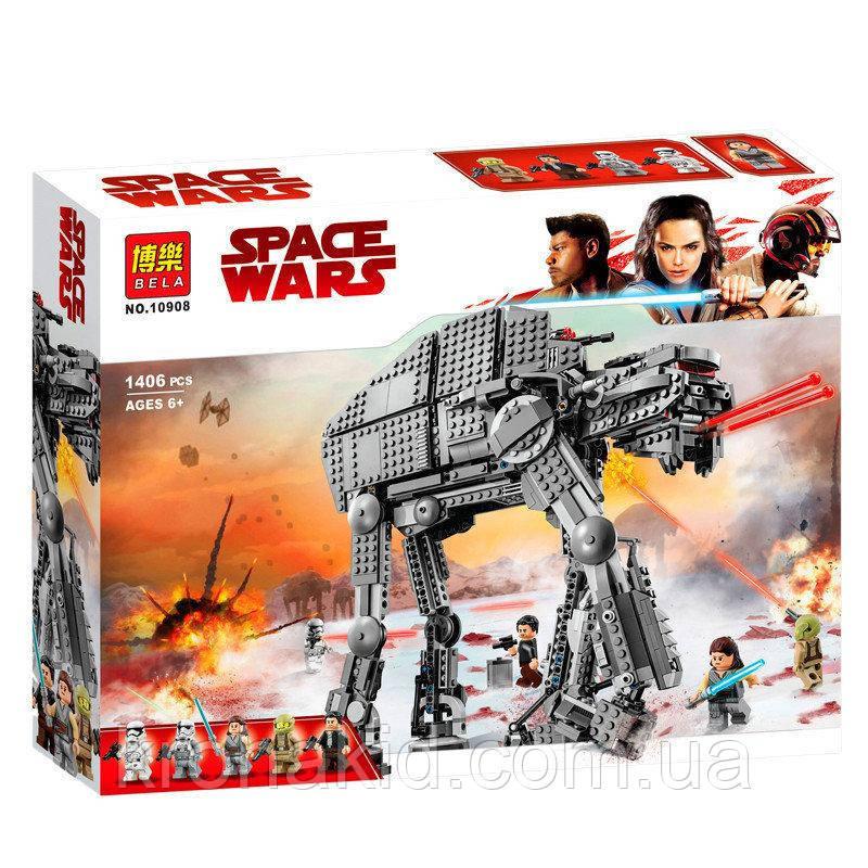 """Конструктор Bela 10908 """"Штурмовой шагоход Первого Ордена"""" (аналог Lego Star Wars 75189), 1406 дет"""