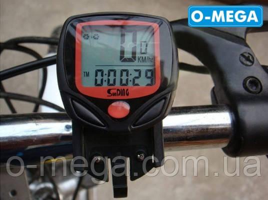 Велокомпьютер проводной SunDing SD-548B спидометр часы