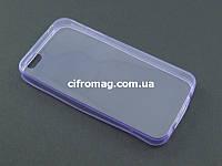 Чехол Remax ультратонкий для Apple iPhone 4 4s сиреневый