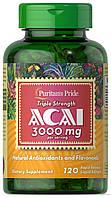 Экстракт ягод Асаи Puritan's Pride Triple Strength Acai 3000 мг (120 капс)