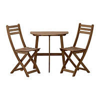 ASKHOLMEN Балконный стол+2 складных стула