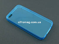 Чехол Remax ультратонкий для Apple iPhone 4 4s голубой