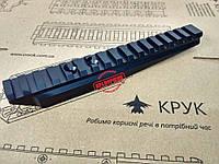 CRC 2U007 Планка-кронштейн для кріплення оптики на гвинтівку Мосіна із круглою ствольною коробкою. Кут нахилу , фото 1