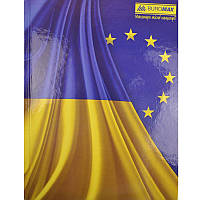 Тетрадь А4, 96 л., Buromax , офсет, кл., карт. тв., Украинская символика