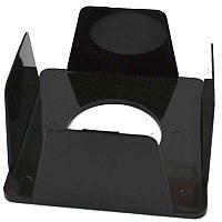 Бокс для бумаги, 90х90х45мм, черный, пластик, Buromax