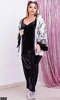 Халаты больших размеров,халаты и пеньюары,пижама бархатная с халатом , пижама женская большого размера